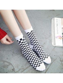 Checkered Unisex Aesthetic Socks by Aestheti Cat