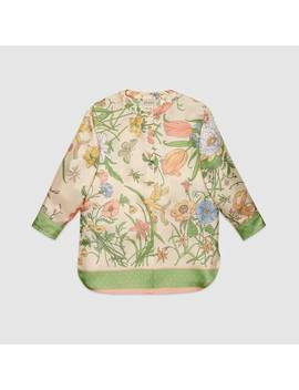 Children's Shirt With Flora Print by Gucci