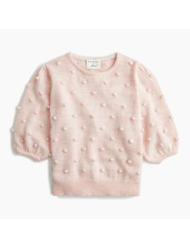 Demylee® X J.Crew Puff Sleeve Pom Pom Sweater by Demylee
