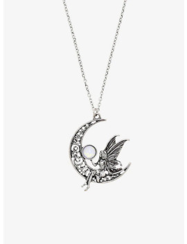 Fairy Opal Moon Necklace by Hot Topic