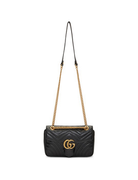 Black Small Marmont 2.0 Bag by Gucci
