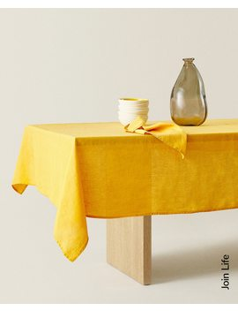 Washed Linen Tablecloth  Tablecloths   Table Linen   Dining by Zara Home