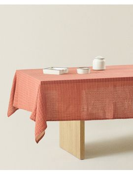 Check Cotton Tablecloth  Tablecloths   Table Linen   Dining by Zara Home
