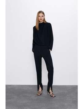 Pantalon À Fentes Sur Le Devant by Zara