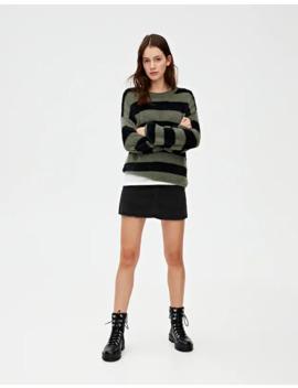 Sweater às Riscas De Pelo Curto by Pull & Bear