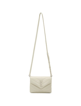 White Toy Loulou Bag by Saint Laurent
