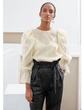Sheer Puff Sleeve Blouse by & Other Stories