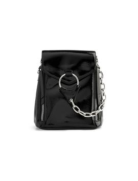 Black Patent Backpack With Chains by Primark