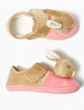 Kids' Peter Rabbit™ Flopsy Riptape Slippers (5 Small   12 Small) by Marks & Spencer