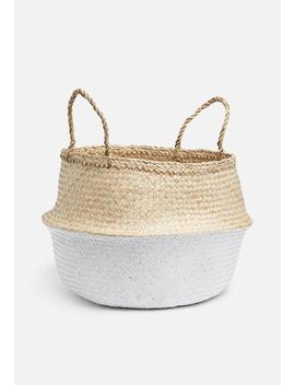 Belly Basket Two Tone White by Sixth Floor