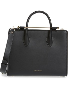 Midi Calfskin Leather Tote by Strathberry