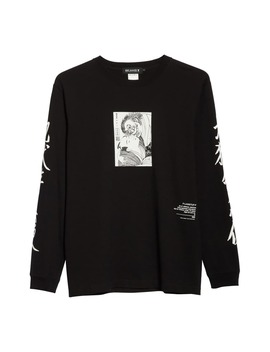 X Flagstuff Graphic Long Sleeve Cotton T Shirt by Beams T