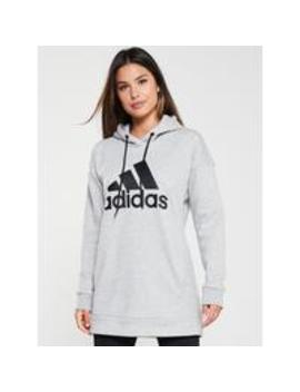 Must Have Big Logo OverheadHoodie  Medium Grey Heather by Adidas