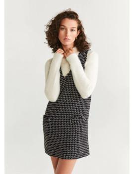 Tweedklänning Med Fickor by Mango