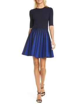 Salyee Short Sleeve Knit Skater Dress by Ted Baker London