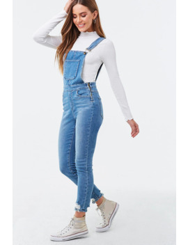 Faded Skinny Overalls by Forever 21