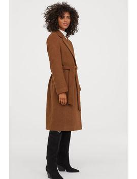 Палто с колан със завързване by H&M