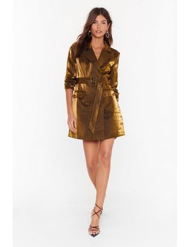 And The Shimmer Is Mini Blazer Dress by Nasty Gal