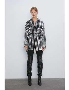 Karierte Tweed Jacke by Zara