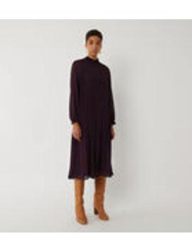 Micro Pleat Midi Dress by Warehouse
