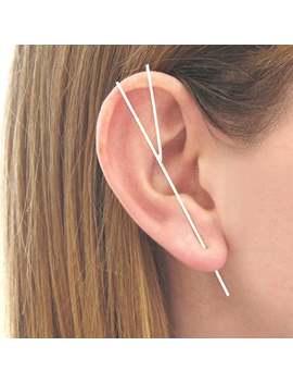 Silver Bar Ear Cuff, Silver Cuff Earring, 925 Silver Earring, Ear Pin, Edgy Earring, Simple Earring, Unique Earring, Silver Jewellery, Gift by Etsy