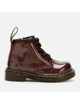 Dr. Martens Toddler's 1460 Glitter Lace Up Boots   Rose Brown by Dr. Martens