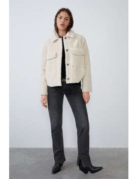 Faux Shearling Double Faced Jacket by Zara