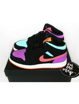 Nike Air Jordan 1 Retro Mid Multi Pink Orange Candy Gs Sizes Uk 3 4 5 6 7 Us New by Ebay Seller