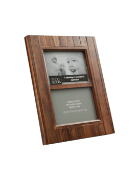 """Espresso Salvage Chic 2 Opening Frame, 5"""" X 7"""", Expressions™ By Studio Décor® by Studio Decor"""