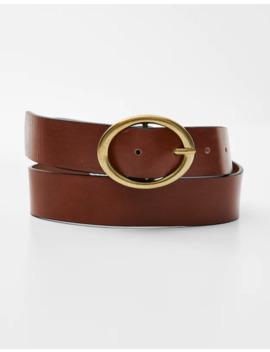 Cintura Marrone Con Fibbia Dorata by Pull & Bear