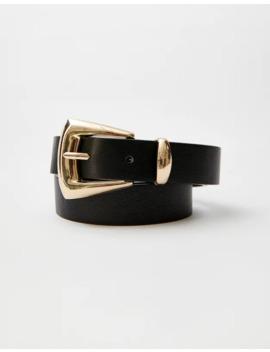 Cintura Nera In Stile Cowboy by Pull & Bear