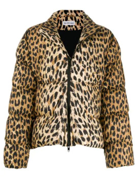 Leopardmönstrad Puffjacka by Balenciaga