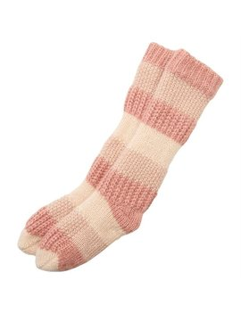 Mixed Texture Reading Socks™ Blush Pink by Indigo