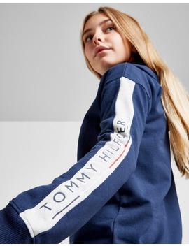 Tommy Hilfiger Girls' Essential Logo Full Zip Hoodie Junior by Jd Sports