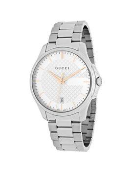 Gucci Men's 38mm G Timeless Swiss Made Quartz Stainless Steel Bracelet Watch by Shop Hq
