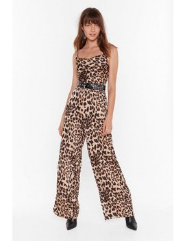 Wild Dancing Leopard Wide Leg Jumpsuit by Nasty Gal