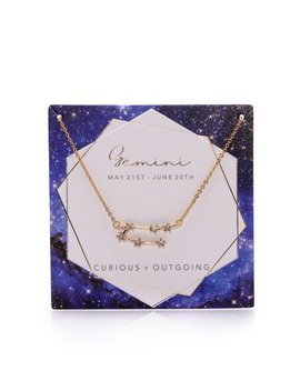 Written In The Stars 'gemini' Necklace   Gold by Fashion Nova