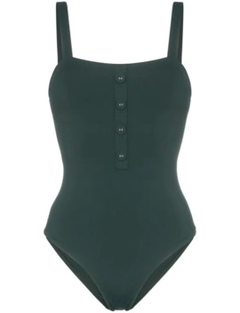 Archie Button Detail Swimsuit by Onia