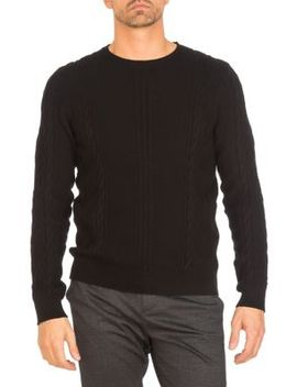 Liam Diamond Cable Knit Sweater by Guess