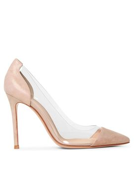 Plexi Pink Oil Suede Pumps by Gianvito Rossi