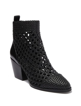 Augustine Woven Ankle Mid Bootie by Michael Michael Kors