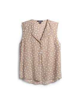 Stone Polka Dot Sleeveless Shirt by Primark
