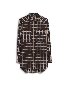 Black Large Check Military Shirt by Primark