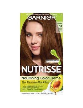 Garnier Nutrisse Nourishing Hair Color Creme, 53 Medium Golden Brown (Chestnut), 1 Kit by Garnier