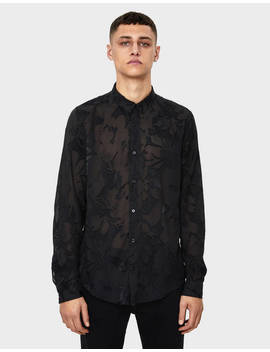 Sheer Printed Shirt by Bershka