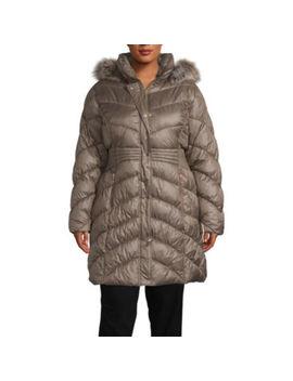 Liz Claiborne Hooded Heavyweight Puffer Jacket Plus by Liz Claiborne