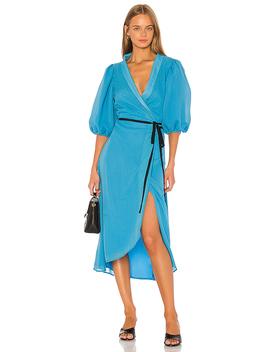 Yasmin Kleid Im Cerulean Blue by Lpa