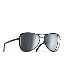 Chanel Pilot Sunglasses Ch4223 Black by Chanel
