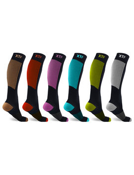 Copper Compression Socks For Men & Women   Made For Running, Athletics, Pregnancy And Travel   6 Pair by Extreme Fit