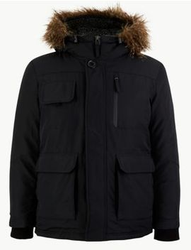 Faux Fur Trim Parka With Thermowarmth™ by Marks & Spencer